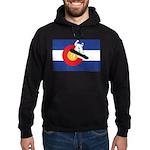 A Snowboarder in a Colorado Flag Hoodie (dark)