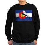 A Snowboarder in a Colorado Flag Sweatshirt (dark)