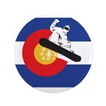 A Snowboarder in a Colorado Flag 3.5