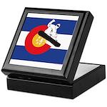 A Snowboarder in a Colorado Flag Keepsake Box