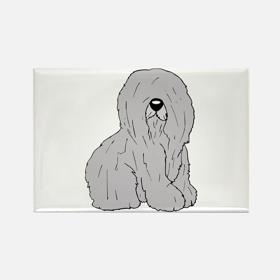 Old English Sheep Dog Rectangle Magnet (100 pack)