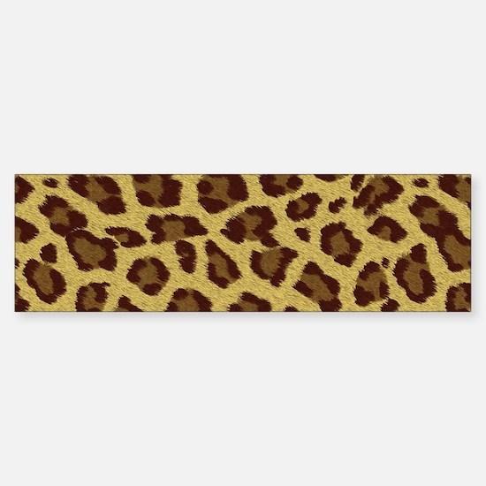 Look a Like Leopard Fur Sticker (Bumper)
