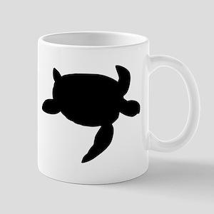 Sea Turtle Silhouette Mugs