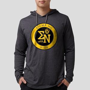 Sigma Nu Badge Mens Hooded Shirt