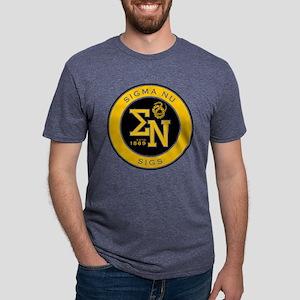 Sigma Nu Badge Mens Tri-blend T-Shirt