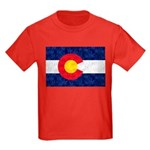 Colorado Pot Leaf Flag Kids Dark T-Shirt