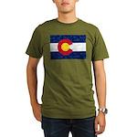 Colorado Pot Leaf Fla Organic Men's T-Shirt (dark)