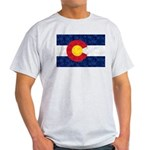 Colorado Pot Leaf Flag Light T-Shirt