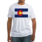 Colorado Pot Leaf Flag Fitted T-Shirt