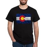 Colorado Pot Leaf Flag Dark T-Shirt
