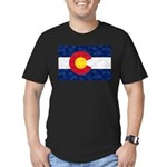 Colorado Pot Leaf Flag Men's Fitted T-Shirt (dark)