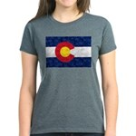 Colorado Pot Leaf Flag Women's Dark T-Shirt