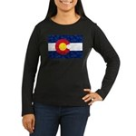 Colorado Pot Leaf Women's Long Sleeve Dark T-Shirt