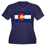 Colorado Pot Women's Plus Size V-Neck Dark T-Shirt