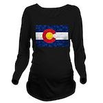 Colorado Pot Leaf Fl Long Sleeve Maternity T-Shirt