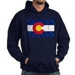 Colorado Pot Leaf Flag Hoodie (dark)