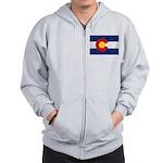 Colorado Pot Leaf Flag Zip Hoodie
