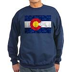 Colorado Pot Leaf Flag Sweatshirt (dark)
