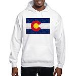 Colorado Pot Leaf Flag Hooded Sweatshirt