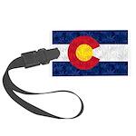 Colorado Pot Leaf Flag Large Luggage Tag