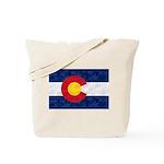 Colorado Pot Leaf Flag Tote Bag