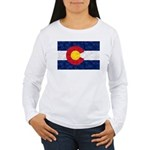 Colorado Pot Leaf Flag Women's Long Sleeve T-Shirt