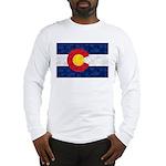 Colorado Pot Leaf Flag Long Sleeve T-Shirt
