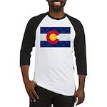 Colorado Pot Leaf Flag Baseball Tee