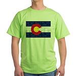 Colorado Pot Leaf Flag Green T-Shirt