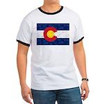 Colorado Pot Leaf Flag Ringer T