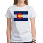 Colorado Pot Leaf Fl Women's Classic White T-Shirt