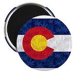 Colorado Pot Leaf Flag Magnet