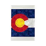 Colorado Pot Leaf Flag Rectangle Magnet