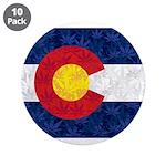 Colorado Pot Leaf Flag 3.5