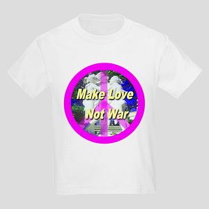 Make Love Not War Kids Light T-Shirt