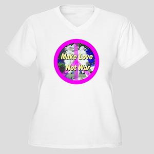 Make Love Not War Women's Plus Size V-Neck T-Shirt