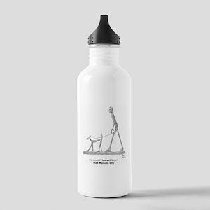 Man Walking Dog Water Bottle