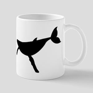 Humpback Whale Silhouette Mugs