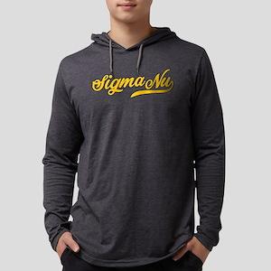 Sigma Nu Script Mens Hooded Shirt