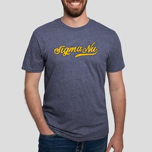 Sigma Nu Script Mens Tri-blend T-Shirt