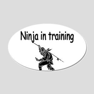 Ninja in training Wall Decal