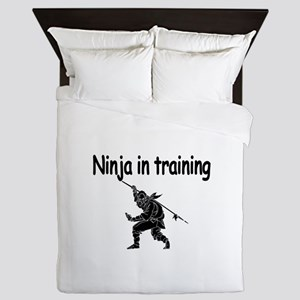 Ninja in training Queen Duvet
