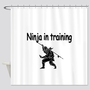 Ninja in training Shower Curtain
