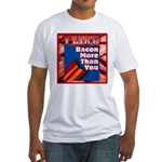 I Like BACON M T Y Fitted T-Shirt