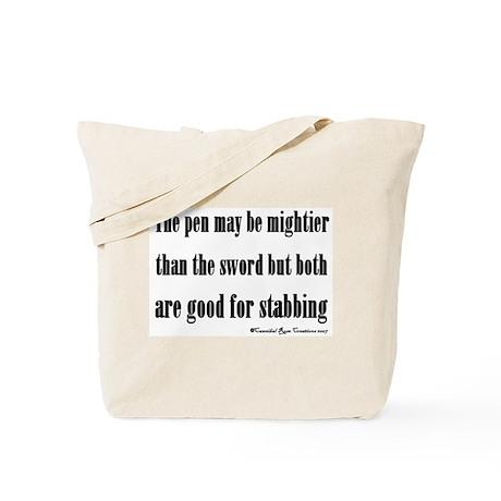 Pen & Sword Tote Bag