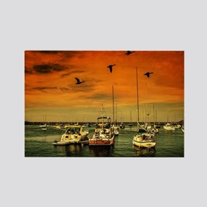 Rockport Harbor Rectangle Magnet
