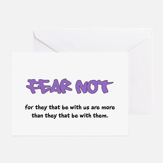 Fear Not - purple Greeting Cards