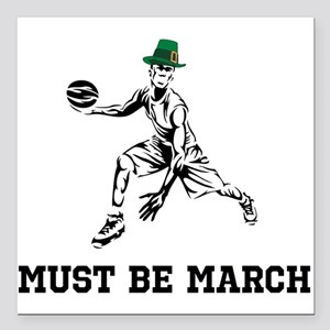 """Must Be March Square Car Magnet 3"""" x 3"""""""