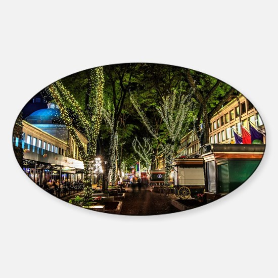 Ready for Christmas , Faneuil Hall, Sticker (Oval)