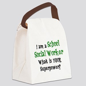 school social worker Canvas Lunch Bag